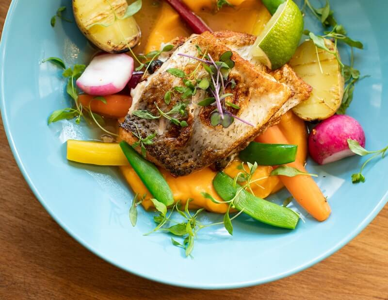 Fish and veggies for lunch